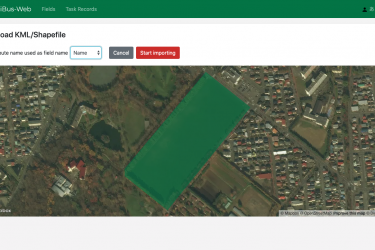 AgriBus-Web released the function of registering fields by uploading KML/Shape files.