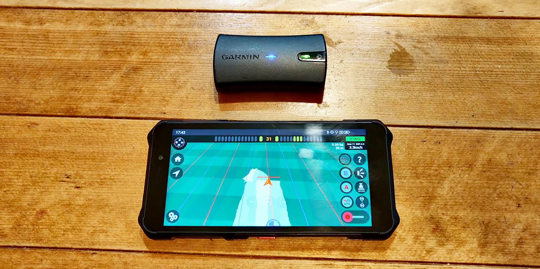 Usando um dispositivo GNSS externo – exemplo com Garmin GLO 2