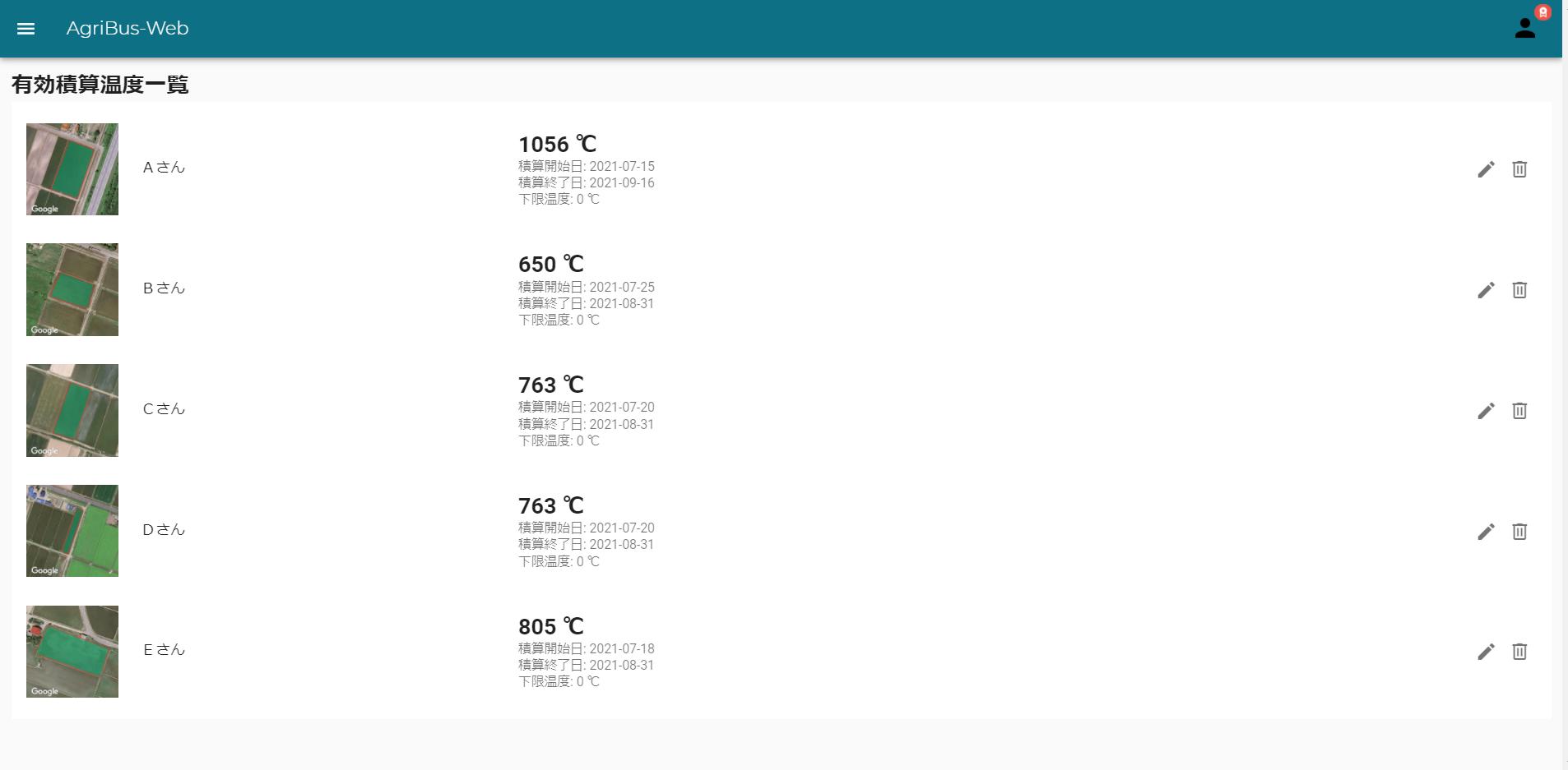 「AgriBus-Web」アップデートのお知らせ 〜有効積算温度〜